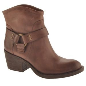 Lucky Brand Leather Bambi Western Booties